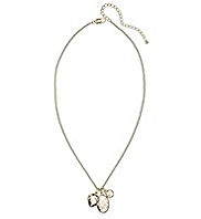 Autograph Multi-Faceted Bead Droplet Diamanté Necklace