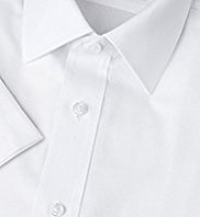 Cotton Rich Quick Iron Short Sleeve Twill Shirt