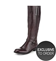 Autograph Leather Strap Riding Boots with Insolia Flex® & Stretch Zip
