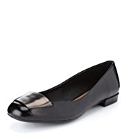 Footglove™ Leather Wide Fit Square Toe Pumps