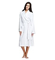 Pure Cotton Shawl Collar Waffle Dressing Gown