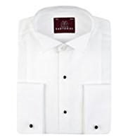 Sartorial Pure Cotton Wing Collar Dinner Shirt