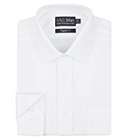 2in Longer Cotton Rich Quick Iron Twill Shirt