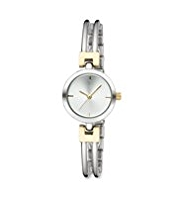 M&S Collection Round Face Two Tone Bar Design Analogue Watch