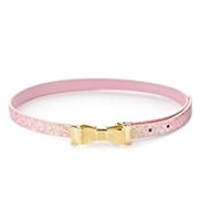 Glitter Effect Bow Buckle Belt