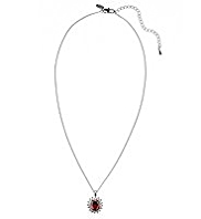 M&S Collection Platinum Plated Diamanté Regal Pendant Necklace
