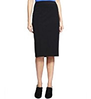 M& Collection Angled Seam Knee Length Skirt