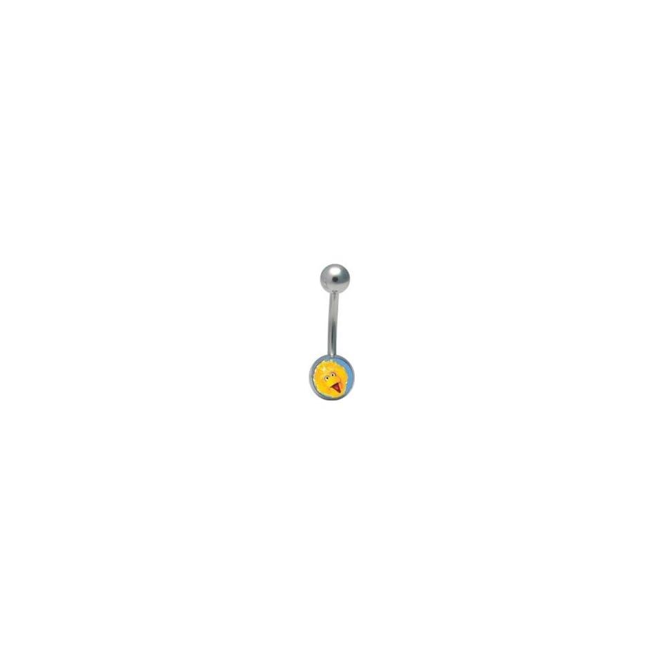 Big Bird Yellow Logo Belly Ring Navel sesame street NEW