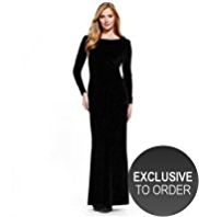 M&S Collection Sparkle Velour Maxi Dress