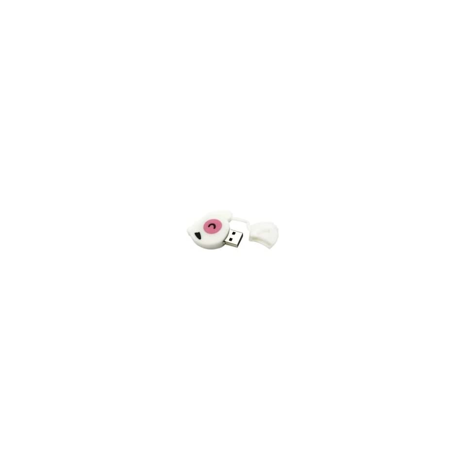 8GB Color Mouse Shaped Cartoon USB Flash Drive White