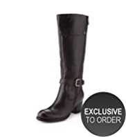 Autograph Leather Outside Zip Boots with Insolia® & Stretch Zip