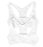 2 Pack Plain Seamfree Crop Tops