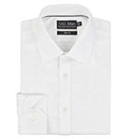 2in Longer Performance Pure Cotton Slim Fit Twill Shirt