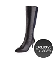 Autograph Suede Pointed Toe Water Resistant Long Boots with Insolia® & STRETCH ZIP™