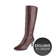 Autograph Leather Perfect Pointed Toe Boots with Insolia® & Stretch Zip