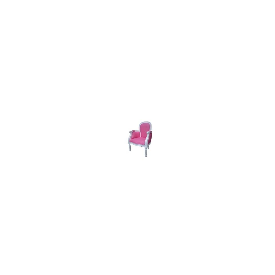 Gift Mark Elegant French Style Children Chair with Sold Wood Frame in Pink and White