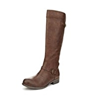 M&S Collection Buckle & Strap Riding Long Boots with Insolia Flex® & Stretch Zip