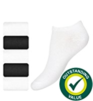 5 Pairs of Cotton Rich Trainer Liner Sports Socks