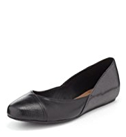 Footglove™ Leather Panelled Pumps