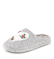 Per Una Rose Mule Slippers