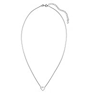 M&S Collection Finest Sterling Silver Heart Pendant Necklace