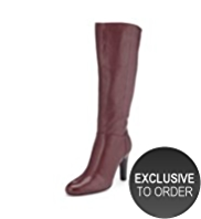 Autograph Leather Knee High Boots with Insolia® & Stretch Zip