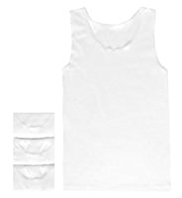3 Pack Autograph Superfine Pure Cotton Sleeveless Vests
