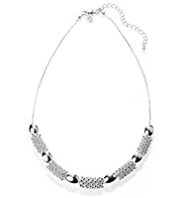 M&S Collection Silver Plated Bubble Necklace