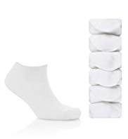 5 Pairs of Cotton Rich Freshfeet™ Trainer Liner Socks with Silver Technology