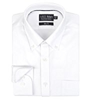 Pure Cotton Quick Iron Slim Fit Oxford Shirt