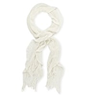 M&S Collection Cashmilon™ Ruffle Scarf