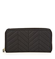 M&S Collection Leather Zig Zag Purse