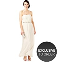 M&S Collection Sleeveless Flared Hem Belted Maxi Dress