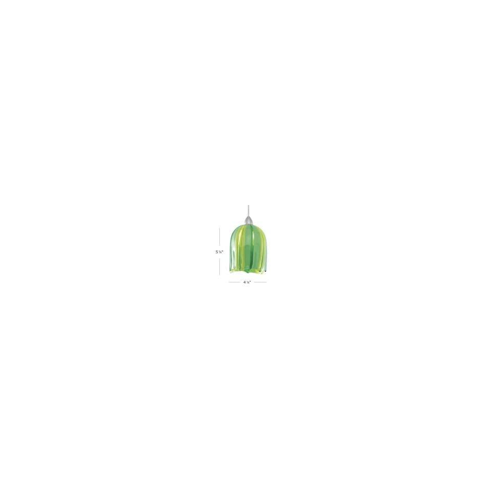 WAC Lighting HM 530GR BZ Couture Flexrail2 1 Light Mini Pendant,Green