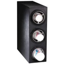 Dispense Rite CTC-S Black Polystyrene Countertop Cup Dispensing Cabinet, 24 x 8 x 23 inch -- 1 each.