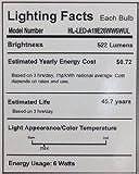 HitLights 6 Watt UL-Listed A19 Warm White LED Bulb - 20 Year Lifespan, Replaces 40 Watt - 3000K, 522Lumens, 110 Volts, E26