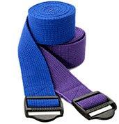 Imagen de YogaAccessories (TM) 6 'Cinch algodón hebilla de correa de yoga - púrpura, color púrpura