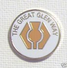 THE GREAT GLEN WAY SCOTLAND FORT WILLIAM TO INVERNESS ENAMEL LAPEL PIN BADGE