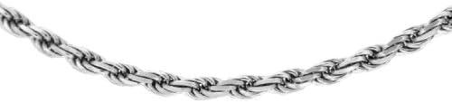 "Carissima 9ct White Gold Hollow Diamond Cut Figaro Rope Chain 46cm/18"""