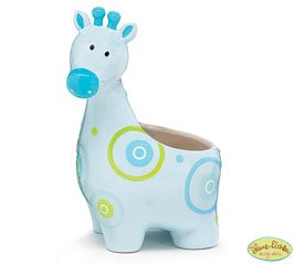 Musical Blue Giraffe Planter For Baby Nursery and Baby Decor - 1