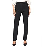 M&S Collection Jacquard Modern Super Slim Leg Trousers