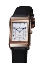 Jaeger LeCoultre Grande Reverso Silver Dial 18kt Rose Gold Black Alligator Leather Mens Watch Q3732523