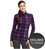 M&S Collection Checked Fleece Sweat Top