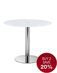 Gino White Table - 90cm