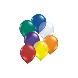 Pack of 50 Classic Assorted Colours Party Balloons, Latex