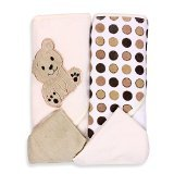 SpaSilk Ivory Bear 2 Hooded Towels and 2 Wash Cloths - 1