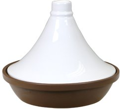Eurita by Reston Lloyd Porcelain Flame Proof Tagine, 2.5 Quart, White