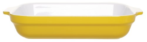 Emile Henry 13-by-10-Inch Lasagna Baker, Citron Yellow