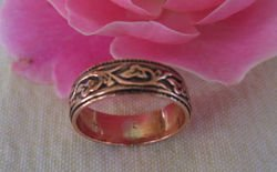 Solid Copper Ring CR018 Size 13
