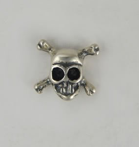 A Devilish Little Skull Stud Earring in Sterling Silver...A Single, Why Buy Two, When You Only Need One?